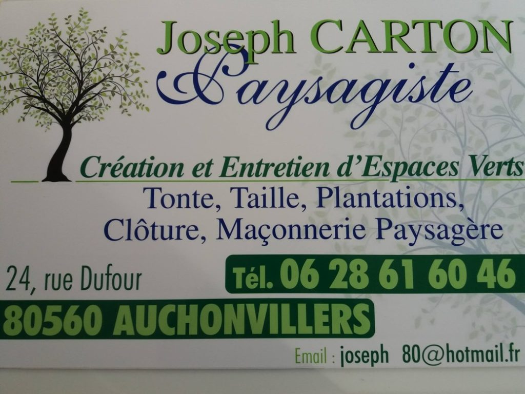 JOSEPH CARTON PAYSAGISTE